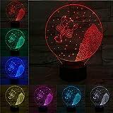 Skorpion 3D Lampe LED Birne Nachtlicht Illusion Multicolor Flash Urlaub Gadeget Weihnachten...