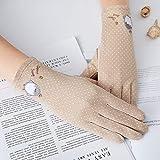Sksngf Dünne Handschuhe Kurze Baumwoll-Handschuhe, Licht und atmungsaktiv, Anti-Rutsch-Palm, Touch...