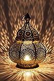 Orientalische Laterne aus Metall Ziva Silber 30cm | orientalisches Marokkanisches Windlicht...
