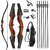 Toparchery Bogenschießen 60'Takedown Hunting Recurve Pfeil- und Bogen-Set für Erwachsene...