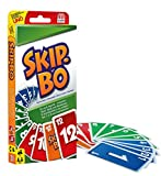 Mattel Games 52370 - Skip-Bo Kartenspiel, geeignet für 2 - 6 Spieler, Spieldauer ca. 30 Minuten,...