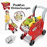 Packfun Kinder Einkaufswagen Spielzeug Supermarkt Einkaufswagen Trolley Cart mit Pretend Play Food...