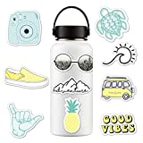 Breeezie 10pcs/Set Cute Stickers for Water Bottles Waterproof for Car, Laptop,Phone