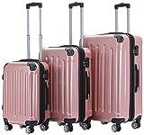 BEIBYE Zwillingsrollen 2048 Hartschale Trolley Koffer Reisekoffer Taschen Gepäck in M-L-XL-Set...