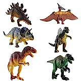 FOGAWA 6 Stück Dinosaurier Spielzeug Set Dino Figuren Dinosaurier Figuren Realistische Dinofiguren...