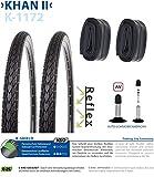 P4B   Komplettes 28 Zoll Fahrradreifen Set = 2x 35-622 (28' x 1 3/8 x1 5/8) Fahrrad Reifen mit...