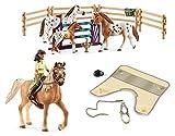 3in1-SET Schleich Pferde Horse Club - Sarah & Mystery mit extra Pferdedecke und Turniertraining...