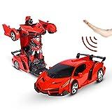 Sylanda Ferngesteuertes Auto Transform Roboter, Wiederaufladbar RC Auto Rennauto mit Fernnedienung...