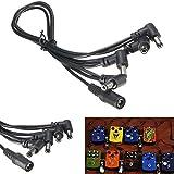 9V 4-Wege-Gitarren-Effekt-Pedal Power Supply Adapter Daisy Chain-Splitter-Kabel Zubehör Gitarre