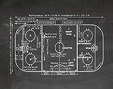 WallBuddy Eishockey-Poster mit Eishockey-Motiv, Geschenk für Eishockeyspieler,...