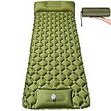 Isomatte Camping Selbstaufblasbare mit Fußpresse Pumpe - Ultraleichte Aufblasbare Schlafmatte wasserdichte Verbreiternde Größer Matratze - Kompakte Luftmatratze für Camping Outdoor Wandern