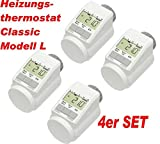 eQ-3 Eqiva Model L Elektronik-Heizkörperthermostat mit Boost-Funktion, 4er Set