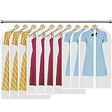 HBselect 10 stück Kleidersack transparente Kleiderhüllenmit Reißverschluss wasserfeste...