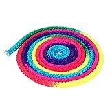 Delaman Trainingsseil Colorful Rhythmic Gymnastics Solid Rope für Competition Arts 1PC