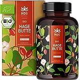 Holi Natural® BIO Hagebuttenkapseln   180 vegane Kapseln   150mg Vitamin C je Tagesdosis   Reinste Hagebuttenpulver Kapseln hochdosiert