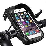 LuTuo Fahrrad Lenkertasche Wasserdicht, Handy Halterung Universal Motorrad Handyhalter für 3,5-6,0 Zoll Smartphone mit 360° Drehbar Fahrradtasche