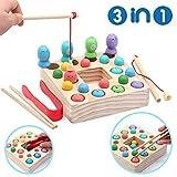 Holzspielzeug Angelspiel Montessori Lernspielzeug Kinder Fische Angeln Spiel magnetisch Magnettafel...