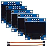 Timagebreze 5PCS 0,96 Zoll OLED-Modul 128X64 Wei? SSD1306 Treiber IIC Serial Display Board-Modul für, Beagle Bone Black
