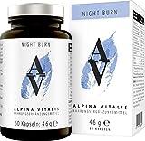 Alpina Vitalis Night Burn Fatburner für die Nacht, natürlich Abnehmen Formel zur Unterstützung...