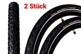 2 Stück 28' Zoll Continental Ride Tour Fahrrad Reifen Mantel Decke Tire 42-622 Reflex schwarz
