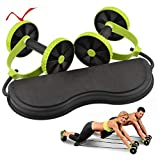 Bauchtrainer ab Wheel Fitness Abdominal Wheels Stretch Elastic Abdominal Resistance Pull Rope Tool...