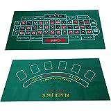 circulor Roulette Filz Poker Matte Pokerauflage Doppelseitige Muster-Spieltischdecke,...