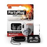 Alpine PartyPlug Gehörschutz Ohrstöpsel für Party, Musik, festivals, Disco und Konzerte sicher genießen - Hohe Musikqualität + Schlüsselanhänger - Hypoallergenes - Wiederverwendbar - transparent