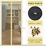 Moskitonetz, Insektenschutz, Moskito-Türvorhänge, magnetisch, automatisches Schließen, 90 x 210...