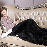 SONNIGPLUS Flanell Decke, Warme Decke Sofa, Heizdecke mit abschaltautomatik, 6 Heizstufen, Heizdecke...