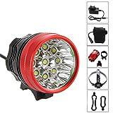 FIVEFIRE 18000LM 9x CREE XM-L T6 wasserdicht Fahrradlicht , Scheinwerfer, Kopflampen, Stirnlampe,...