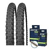 SET: 2 x Kenda K50 Fahrrad BMX Reifen 20x2.125 + Schläuche Autoventil 20' Zoll