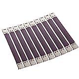 10x Shrapnel Geldbörse Making Supplies Metallrahmen Kiss Verschluss - Silber, 12x1.4 cm