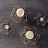 CherryKelly 10pcs 3D Geometrie Hochzeit Kerzenhalter Teelichthalter Teelicht Kerzenhalter...