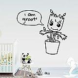 BailongXiao Pflanze Vinyl Tapete für Kinderzimmer Wandaufkleber DIY Wohnkultur Dekoration Zubehör...