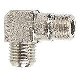 1/4 X 14 Luftpumpenanschlusswinkel 90°-Gewindeanschlussadapter Rechtwinkliger Zinklegierung Pumpenkopf mit Hoher Verschleißfestigkeit für Luftkompressor