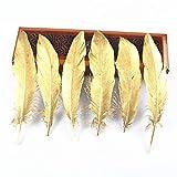 sjzwt 100-500pcs Goldfarbe Gans/Ente/Türkei Federn DIY Hochzeit Dekoration Zubehör Plumes DIY Federn for das Handwerk (Color : 25 30CM, Size : 500PCS)