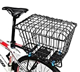 GOLDGOD Fahrradkorb Mit Deckel, Vergrößern Sie Den Korb Mit Hinterer Abdeckung Verdicken Sie Den Mountainbike-Korb Student Fahrrad Hinterkorb Fahrrad Rücksitz
