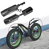 HCHD 2ST Quick Release Schnee-Fahrrad-Frontrückschlammschutz Fat Bike Fender for 26 Zoll MTB...
