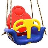 LittleTom 3-in-1 Kinderschaukel Baby Garten Schaukel 49x48x34cm Kinder Indoor Outdoor Spielzeug 6-72...