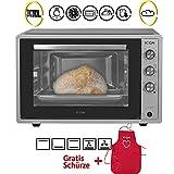 ICQN 70XXL Mini-Öfen | 1800 W | Mini-Backofen mit Innenbeleuchtung und Umluft | Pizza-Ofen |...