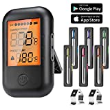 MUSCCCM Digital Grillthermometer, Fleischthermometer, BBQ Thermometer Bluetooth 5.0...