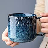 YYZC Keramik Kreative Blaue Keramik Kaffeetasse for Tee for Kinder Tassen und Becher-Reise-Schale...