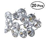 ROSENICE 20 Stücke 25mm Diamant Kristall Polster Nägel Reißzwecken Sofa Kopfteil Nähen Knöpfe...