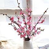 Mitlfuny Unechte Blumen, Künstliche gefälschte Blumen Pflaumenblüte Floral Wedding Bouquet Home...