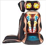 XYYMV Shiatsu Massageauflage, Massagesitzauflage Mit 3 Massagezonen, Wärmefunktion, Nacken, Rücken, Gesäß Massage, Verstellbare Höhe Für Jeden Stuhl Geeignet Mit Fernbedienung