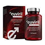 Euviril Testoforte N - Mit Tribulus Terrestris, Maca, Phyto-Extrakten, Koffein, Zink + Vitamin D3 - 120 Kapseln