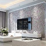 KeTian Moderne einfache 3D-Tapete von dick Vliesmaterial geprägt mit Baum-/Blumen-Muster, als...
