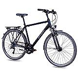 Airtracks Herren Trekking Fahrrad 28 Zoll Trekkingrad TR.2820 Schwarz Matt (52cm (Körpergröße...