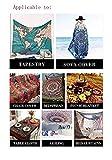 QIAO Tapisserie Wandbehang Tier schwarz Tapisserie psychedelische b?hmische Hippie h?ngende...
