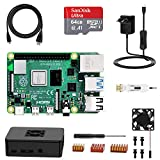 NinkBox Raspberry Pi 4 Model B 4 GB Super Kit mit 64GB Micro SD-Karte, originaler Raspberry Pi 4 Cortex A72 1.5GHz unterstützt Dual Display 4K/1000Mbps/Bluetooth 5.0 (Verbessertes Raspberry Pi 3)
